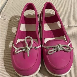Crocs Pink Slip On Loafers Excellent Condition